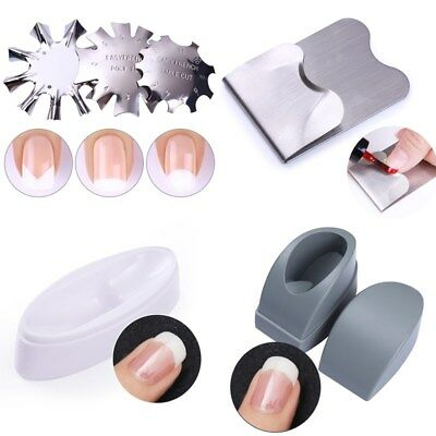 Easy Nail Edge Cutter French Line Nail Art Guid Stencil Trimmer Manicure Tools