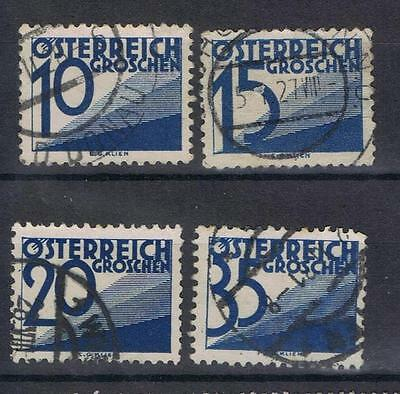 Austria 1925 selection SG 596, 599, 602, 608 Used