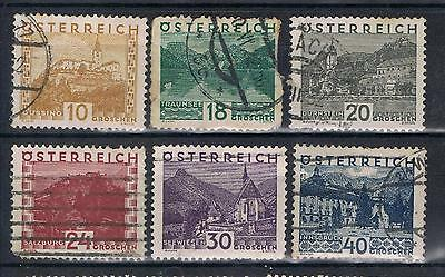 Austria 1929 scenes selection SG 646 on Used