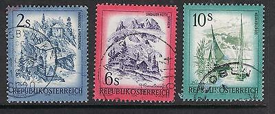 Austria 1973 Views SG 1678, 1684, 1687 Used