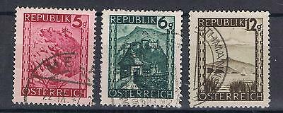 Austria 1945 Views SG 925, 926, 932 Used