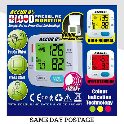 Colour Blood Pressure Monitor Color indication Machine AS SEEN ON TV Accur8