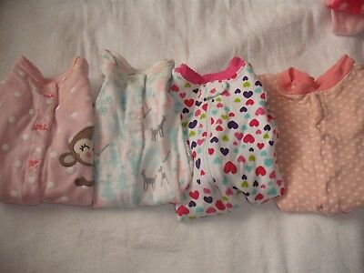 4 Infant girls Sleepers size Newborn