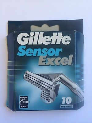 GILLETTE Sensor Excel   SHAVING BLADES RAZORS CARTRIDGES x 10