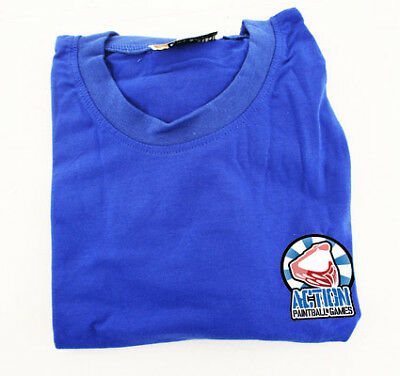 Action Paintball Games Tshirt Blue SMALL.