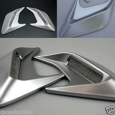 Car Silver ABS Side Hood Cover Air Intake Flow Vent Decoration Fender VA-011