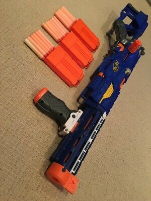 Nerf Longstrike CS-6 Sniper Rifle Toy Gun + Barrel Extension,