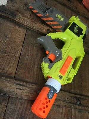 Rare Nerf N Strike Rayven CS-18 (Raven/FIREFLY) and ammo and Silencer