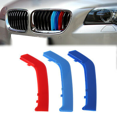 Car styling For BMW 3 Series Upright Car Front Grille Trim Strip 3D M Sticker