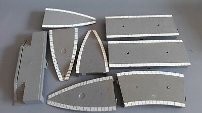 Triang Platform Pieces As Shown X 8 Fair Good Condition Unboxed Oo Gauge(Mx)
