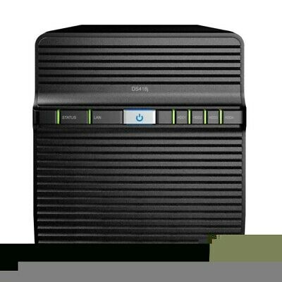 "NEW SYNOLOGY DS418J NAS: 4 BAYS 3.5"" DISKLESS DISKSTATION DUAL-CORE 1.4GHZ 1.f."