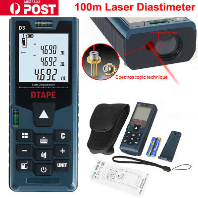 100m 40m Digital Laser Distance Meter Measurer Area Volume Range Finder Measure