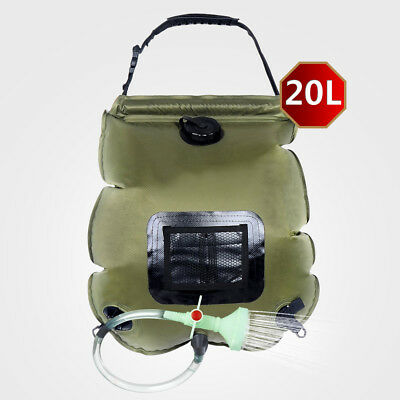 20L/5Gallon Outdoor Camping Hiking Solar Showers Energy Heated Camp Solar Shower