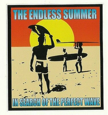 THE ENDLESS SUMMER Sticker Decal Surfboard UTE VAN FORD HOLDEN KOMBI Surfing vw