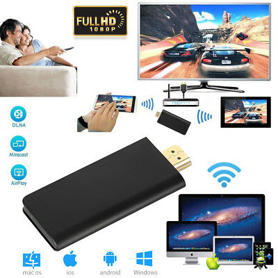WiFi HDMI 1080P Chromecast Dongle Medien TV Stick Receiver Empfänger TV-Dongle