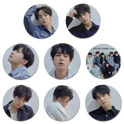Fashion Kpop BTS Bangtan Boys Wings&Love Yourself Badge Brooch Chest Pin Button