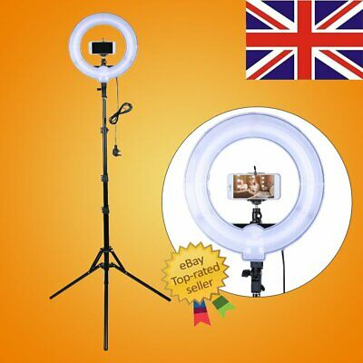 Studio 400W 5500K Fluorescent Ring Light with Adjustable 180cm Stand Photo Video