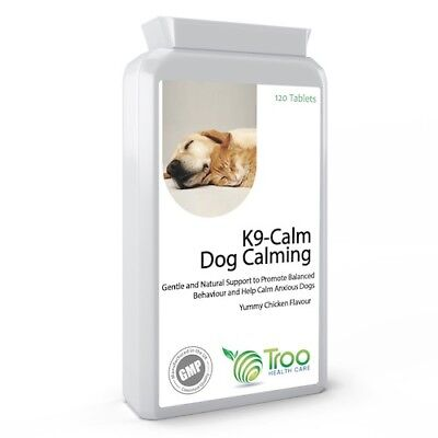 K9-Calm Pet Calming 120 Chicken Flavour Tablets  Anxiety Stress Nervous Relief