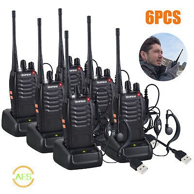 6× Baofeng BF-888S Long Range UHF 400-470Mhz Walkie Talkie Radio 16CH CTCSS DCS