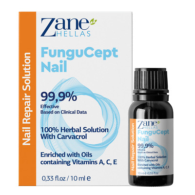 Zane Hellas FunguCept Nail Fungal Support.Natural Nail Protection.0.33 oz–10 ml