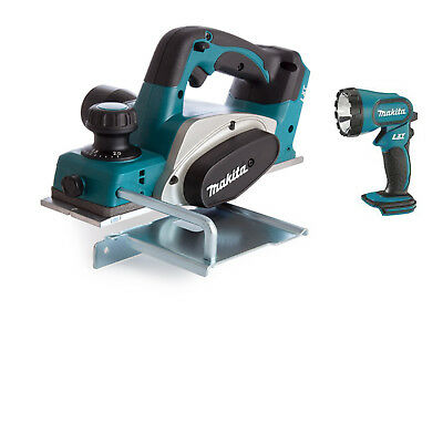 Makita DKP180 18v LXT 82mm Planer Lithium Ion Cordless + DML185 Torch