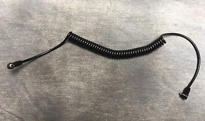 """Flash Sync Cord Extension For Use With Off-Camera Flash Unit - Coiled - 20"""" Long"""