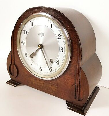 Garrard Art Deco Oak Striking Clock