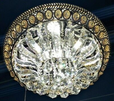 LED Ceiling Light Crystal Chandelier Colour & white MP3 MP3 Bluetooth Remote 481