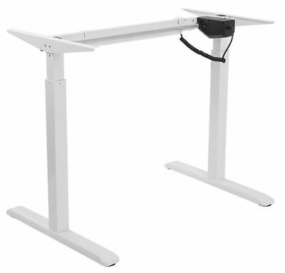 Allcam Height Ajustable Electric Desk Frame White w/Single motor, 73-123cm Range