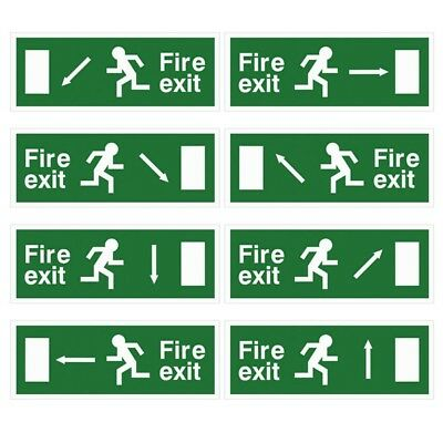 White Rigid Plastic EEC Directive Fire Exit Signs