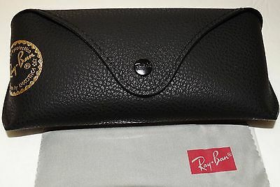 Ray-Ban Leather Case Black with Cleaning Cloth