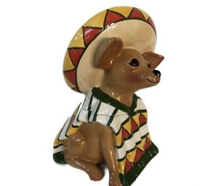 Chihuahua Cookie Jar Enchanting AY CHIHUAHUA In Sombrero 60 Clay Art COOKIE JAR Dog Cookie