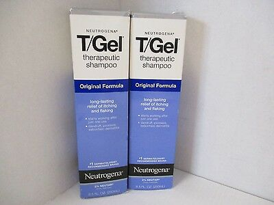 2 Neutrogena T/gel Therapeutic Shampoo - 8.5 Fl Oz Each - Exp: 8/18+ Jl 772
