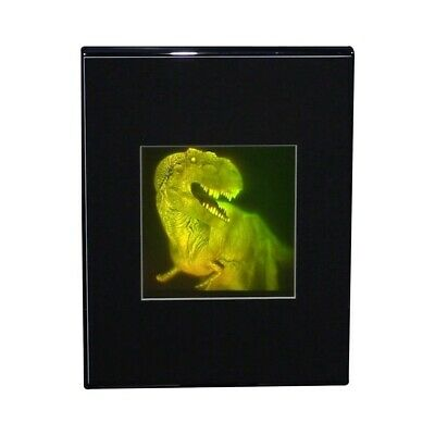 3D T-Rex Large 2-Channel Hologram Picture DESK STAND, Photopolymer Type Film
