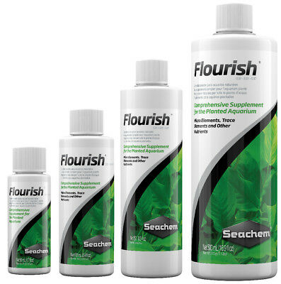 Seachem FLOURISH 50 100 250 500ml Live Aquatic Plant Food Nutrients Fertiliser