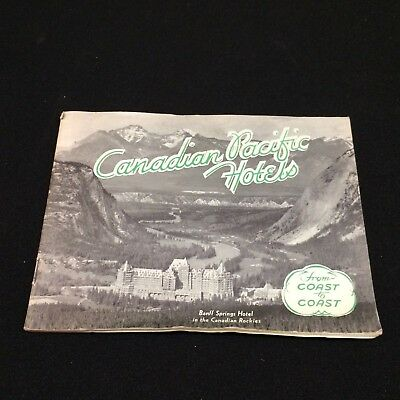 Canadian Pacific Hotels VTG Advertising Booklet 1936 Banff Railroad CANADA Book