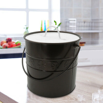 3L Double-Wall Wine Ice Bucket Container with Lid & Tong for Party Home Bar