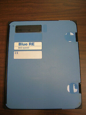 Blue RE 8x10 Medical X-ray Cassette with 800 Speed Blue Screens-Used