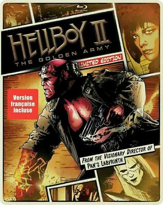 Hellboy II: The Golden Army - Limited Edition Steelbook [Blu-ray + DVD] New!!