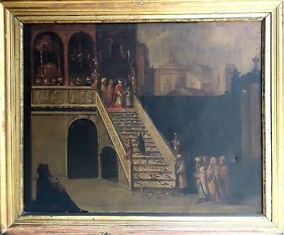The Presentation Of The Virgin In The Temple. Oil/canvas. Spain?. S.xvii-Xviii.