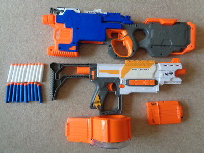 nerf hyperfire elite and recon mk 11 with drum magazine nerf guns ammo bundle