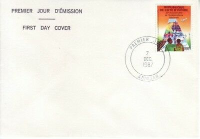 Ivory Coast - 27th Anniversary of Independence (FDC) 1987