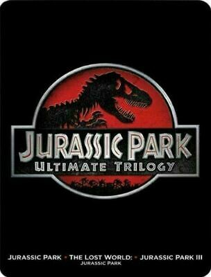Jurassic Park: Ultimate Trilogy - Limited Edition Steelbook [Blu-ray + DVD] New!