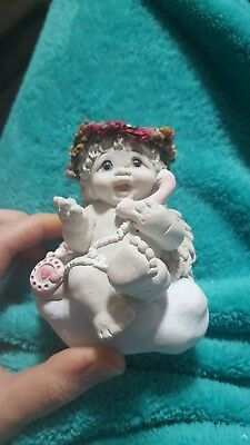 """1998 Dreamsicle #10039 """"Chatter Box"""" Figurine Cast Art Signed"""