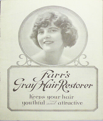 1930's -Farr's Shampoo- Vintage Gray Hair Hairdressing Advertising Booklet