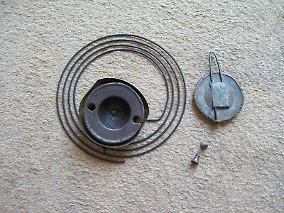 Antique Mantle Clock Gong And Pendulum From An Ogee Clock Spare Parts
