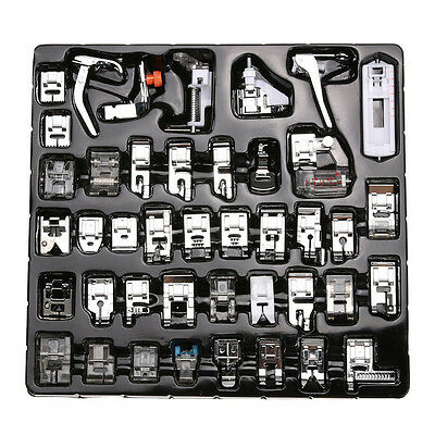 42pcs Domestic Sewing Machine Presser Foot Set For Janome Brother Singer New*