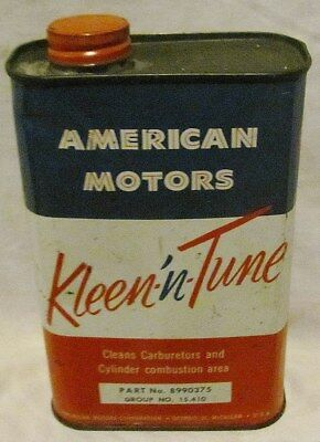Rambler Clean-N-Tune Car Care Chemical: Full Can From The Sixties