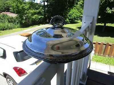 """Silverplated 10 1/4"""" Covered Casserole Dish Bowl Wm. Rogers #4162~~NICE"""