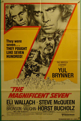 The Magnificent Seven-Western-Yul Brunner-Steve McQueen-OS Int'l R80 (27x41)